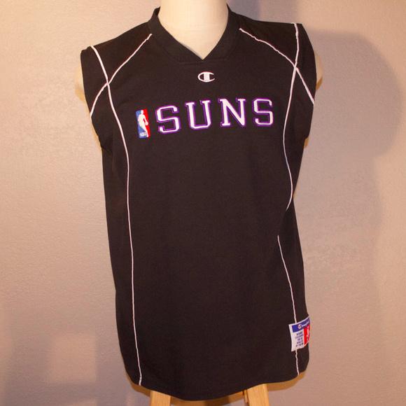 brand new 8e947 301ff Vintage Phoenix Suns Champion Practice Jersey NBA